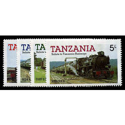 tanzania stamp 271 4 mint trains 1985