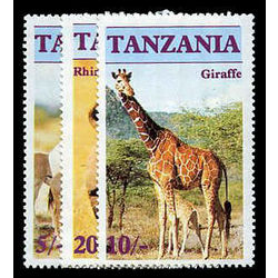tanzania stamp 319 21 animals 1986