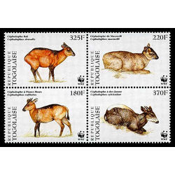 togo stamp 1720 world wildlife fund 1996
