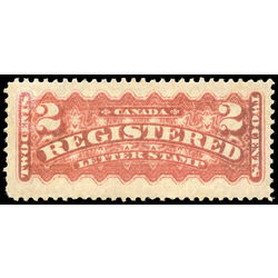 canada stamp f registration f1b registered stamp 2 1888 M VF 001