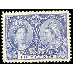 canada stamp 60 queen victoria jubilee 50 1897 m vfng 006