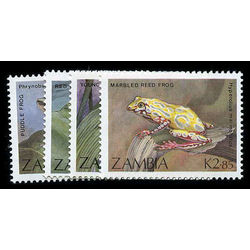 zambia stamp 462 4 serie frogs et toads 1989