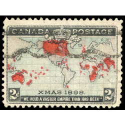 Canada stamp 85xx christmas map of british empire 2 1898
