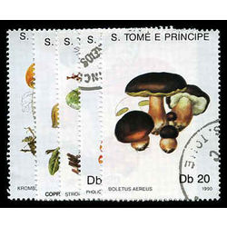 s tome principe stamp 938 42 mushrooms 1990