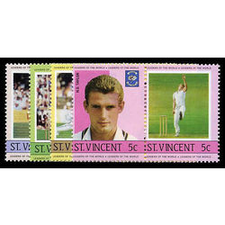 st vincent stamp 795 8 cricket players and team 1985