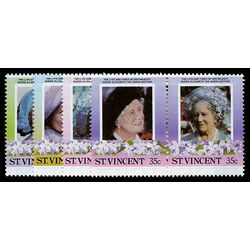 st vincent stamp 861 4 queen mother 1985