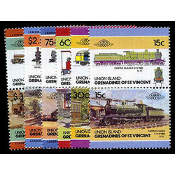 union isl of st vincent stamp 7 stamps mint locomotives inc 1984