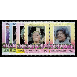 union island st vincent stamp 206 9 queen mother 1985