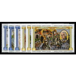 st lucia stamp 633 38 monarchy battle of waterloo 1984