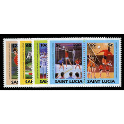 st lucia stamp 665 8 olympics 1984