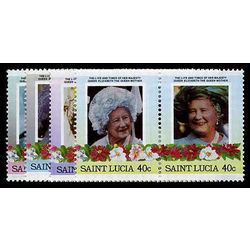 st lucia stamp 782 5 queen mother 1985