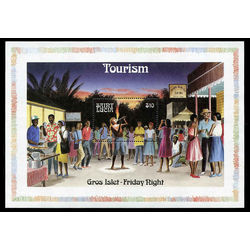 st lucia stamp 866 tourism 1986