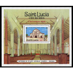 st lucia stamp 871 christmas 1986 1986