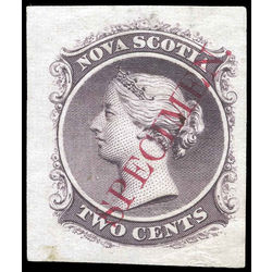 nova scotia stamp 9tciii queen victoria 2 1860