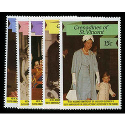 grenadines of st vincent stamp 568 72 queen elizabeth ii 1987