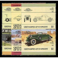 grenadines of st vincent stamp 450 452 3 mint automobiles inc 1984