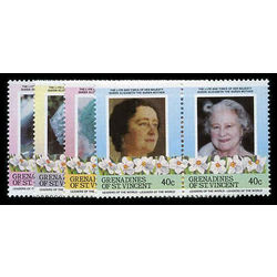 grenadines of st vincent stamp 496 9 queen mother 1985