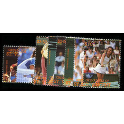 grenadines of st vincent stamp 614 21 tennis 1988