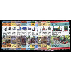 grenadines of st vincent stamp 12 stamps mint locomotives inc 1985