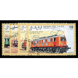 sahara stamp 4 trains essen 1992 1992