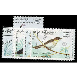 sahara stamp 2 birds new zealand 1990 1990