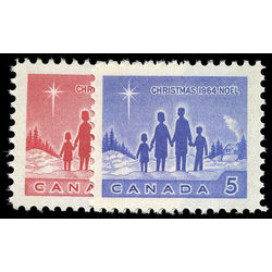 Canada stamp 434p 435p christmas star of bethlehem 1964