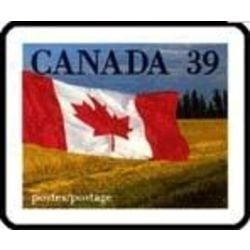 Canada stamp 1192 flag over prairie 39 1990