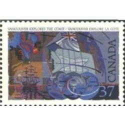 canada stamp 1200 george vancouver 37 1988