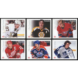 canada stamp 2942 2947 great canadian forwards 2016