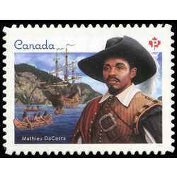 canada stamp 2969 mathieu da costa 2017