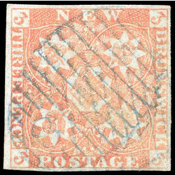 New brunswick stamp 1 pence issue 3d 1851 u vf 003