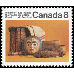 Canada stamp 571i pacific coast artifacts 8 1974