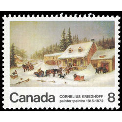 canada stamp 610piv the blacksmith s shop 8 1972