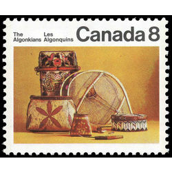 Canada stamp 566ii algonkian artifacts 8 1973