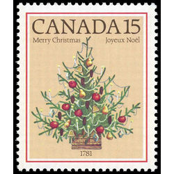 Canada stamp 900i christmas tree 1781 15 1981