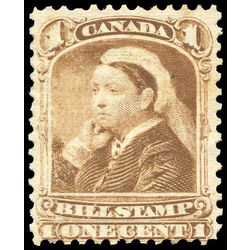 canada revenue stamp fb37 third bill issue 1 1868