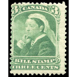 canada revenue stamp fb40 third bill issue 3 1868