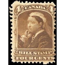canada revenue stamp fb41 third bill issue 4 1868