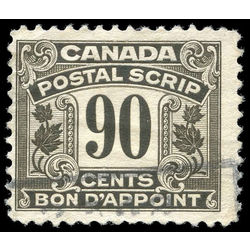 canada revenue stamp fps22 postal note scrip first issue 90 1932
