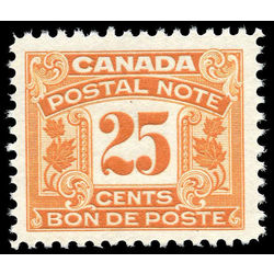 canada revenue stamp fps14 postal note scrip first issue 25 1932