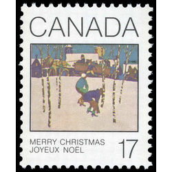 Canada stamp 871iv sleigh ride 17 1980