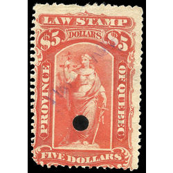 canada revenue stamp ql52 law stamps 5 1893