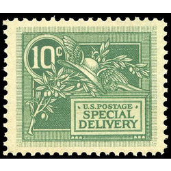 us stamp e special delivery e7 helmet of mercury and olive branch 10 1908 m xfnh 001
