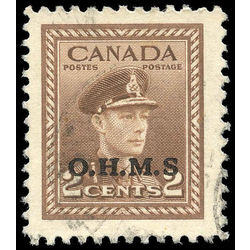 canada stamp o official o2a king george vi 2 1949