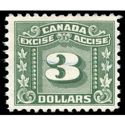 canada revenue stamp fx87 three leaf excise tax 3 1934