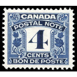 canada revenue stamp fps6 postal note scrip first issue 4 1932