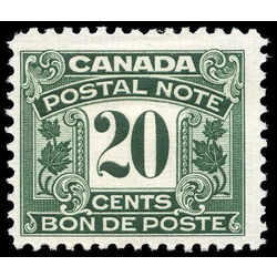 canada revenue stamp fps13 postal note scrip first issue 20 1932