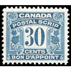 canada revenue stamp fps15 postal note scrip first issue 30 1932