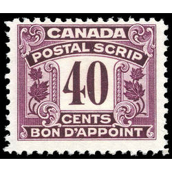 canada revenue stamp fps16 postal note scrip first issue 40 1932