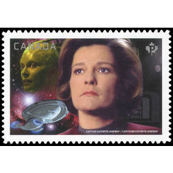 Canada stamp 2989i captain janeway vs the borg queen 2017